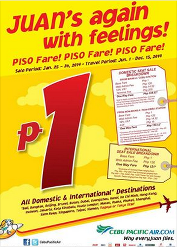 PISO FARE TICKETS