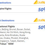 Cebu Pacific Air 50% OFF Promo Fare for 2014