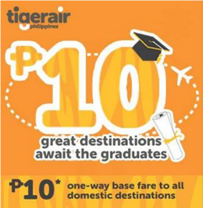 Tiger Air 10 Pesos Promo Fare for 2014