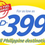 Cebu Pacific 399 PROMO for 2015 – All Domestic Destinations