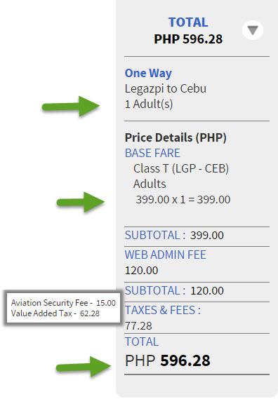 Legazpi to Cebu Ticket Promo 2015