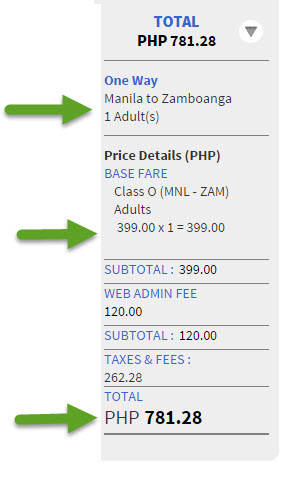 Manila to Zamboanga Ticket Promo