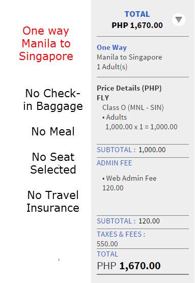Manila to Singapore Promo