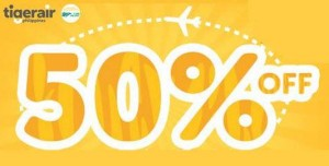 TIGER AIR 50% OFF Promo Fare 2015 to 2016