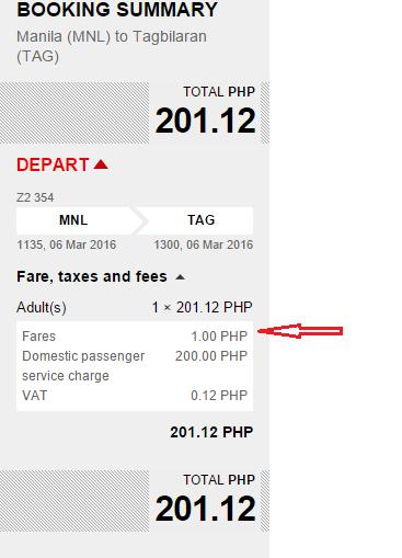 Piso Fare Manila to Bohol