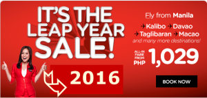 Air Asia Leap Year Sale and Promo Fare 2016