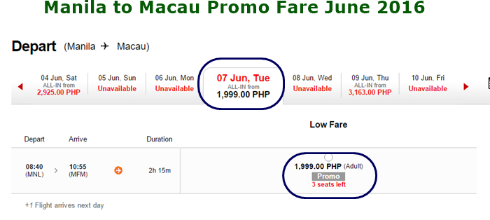 Manila_to_Macau_1999_Promo_Fare June 2016