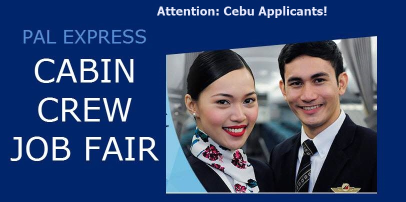 Pal job hiring for cabin crews in cebu for Cabin crew recruitment agency philippines