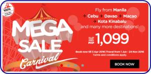 Air Asia Mega Seat Sale June-November 2016