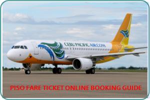 PISO FARE TICKET Guide for Booking Online Cebu Pacific Promo Fare