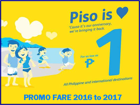 Cebu Pacific P1 Promo Fare 2016-2017
