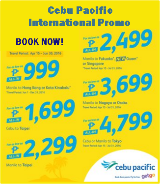 Discount coupons on international flights