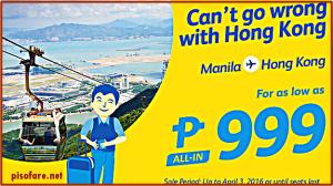 999 Pesos, Other Cheap Cebu Pacific International Promo Tickets 2016