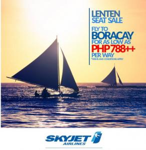 Skyjet 2016 Boracay Promo Tickets: 788 PESOS BASE FARE