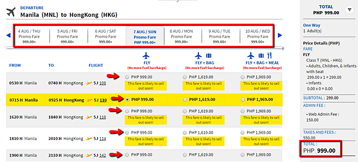 Cebu Pacific Promo_Fare_to_Hongkong