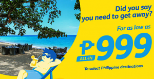 Cebu Pacific Promo Tickets 2016 as Low as 999 PESOS: MAY, JUNE, JULY, AUGUST