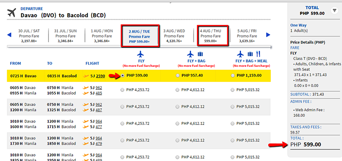 Davao to Bacolod Promo Seat 2016