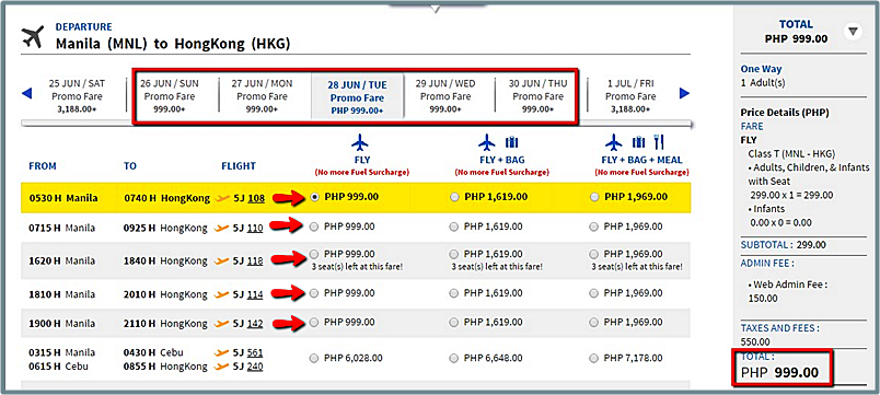 Manila_to_Hongkong_Promo Flight