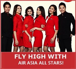 Air Asia Male and Female Cabin Crew Hiring for 2016