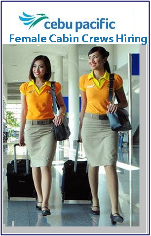 Cebu Pacific Female Cabin Crews Job Hiring
