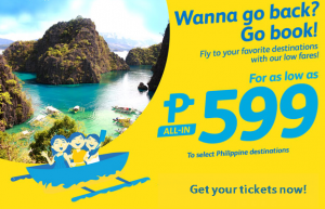 Cebu Pacific as Low as P599 Promo Flights June-September 2016 Select Destinations