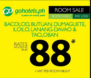 Affordable Hotel Stay at Go Hotel at P88*+ Per Room Per Night