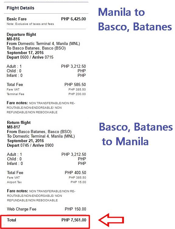 Manila to Batanes Promo Fare 2016