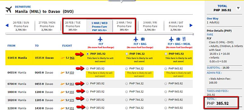 As Low As P16 Cebu Pacific Promo Fare Domestic