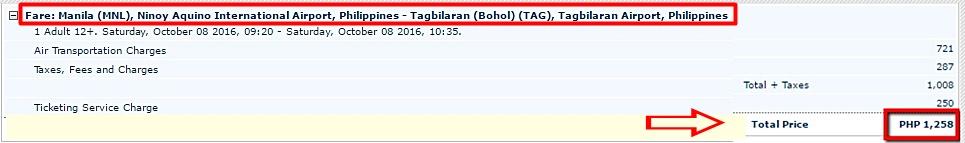 Manila to Tagbilaran Seat Sale 2016