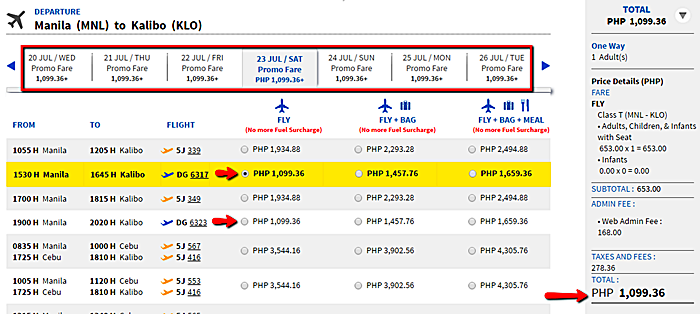 Manila_to_Kalibo Promo Ticket