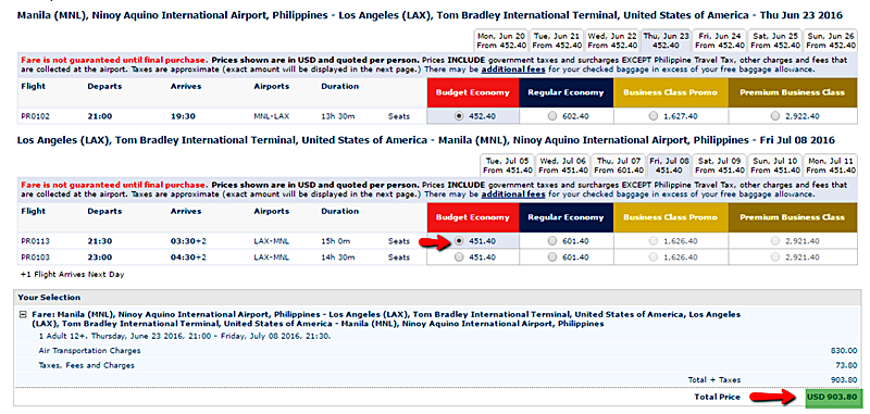 Promo_Fare to_Los_Angeles
