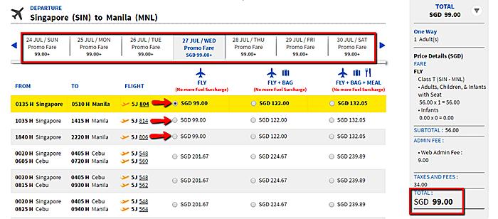 Singapore_to_Manila_Promo ticket