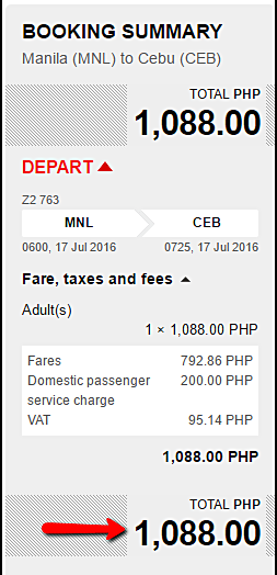 Air Asia Promo Fare Manila to Cebu