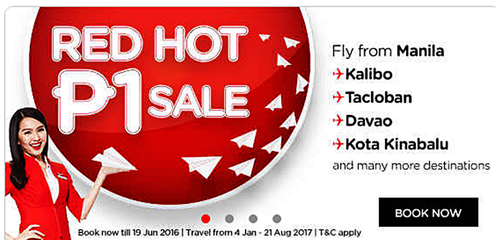 Air Asia Red Hot Piso Fare Promo