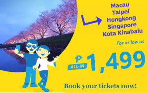 Cebu Pacific Seat Sale November 2016- March 2017 International Routes