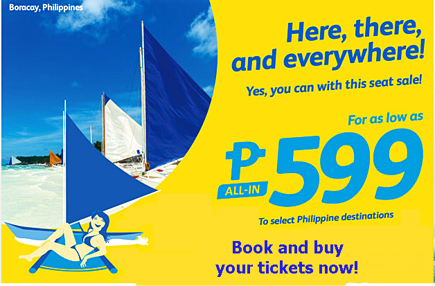 Cebu Pacific Seat Sale July, August, September and October 2016