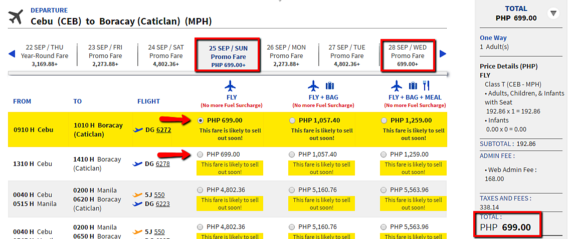 Cebu to Boracay Seat Sale