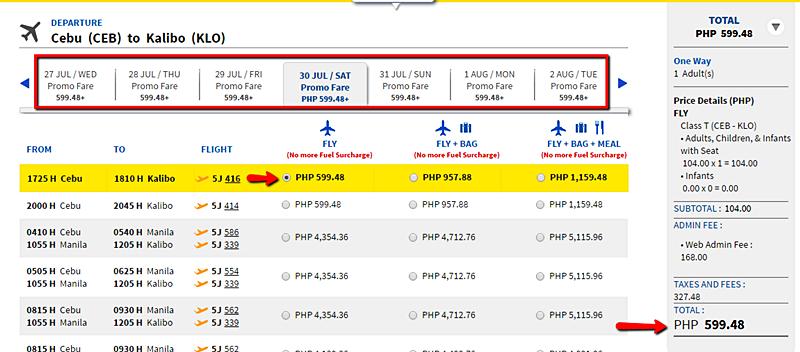 Cebu to Kalibo seat sale 2016