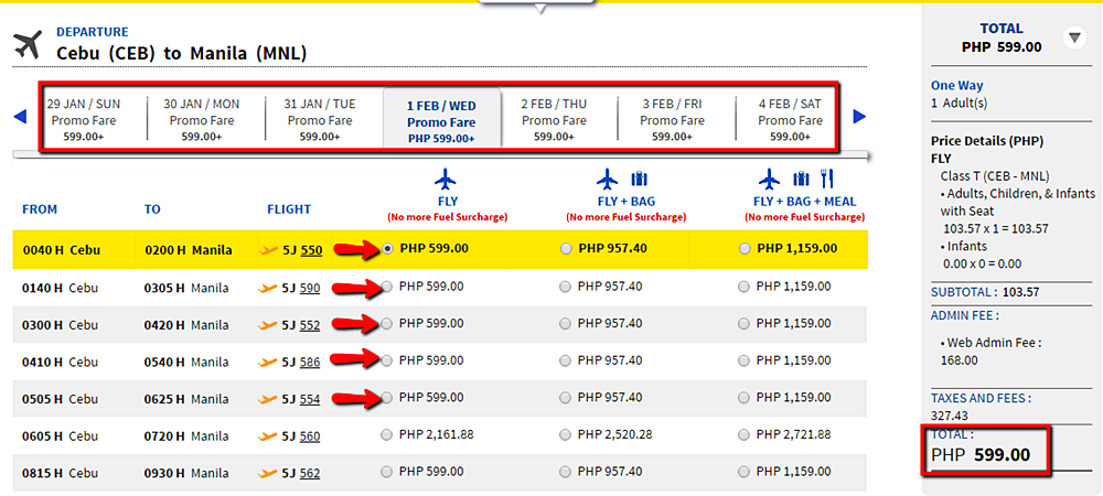 Cebu to Manila Seat Sale