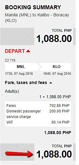 Manila to Boracay Promo Seats 2016