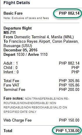 Manila to Coron Promo Ticket