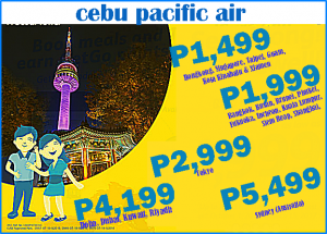Cebu Pacific as Low as P1,499 International Promo 2016-2017