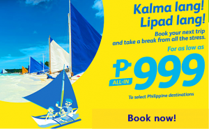 Cebu Pacific Promo Deals Select Routes: August-November 2016