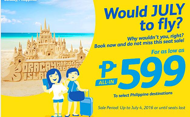Cebu Pacific Promo Fare 2016