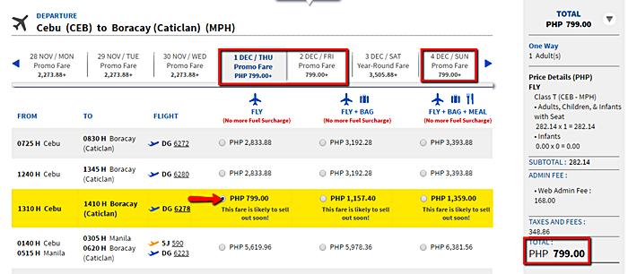 Cebu to Boracay Promo Fare Ticket
