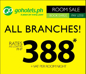 Go Hotel as Low as P388 Per Night Stay Hotel Rooms Promo