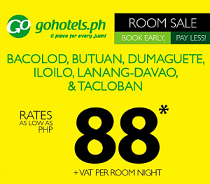 Go Hotels Room Sale as low as P88 Room Per Night Stay