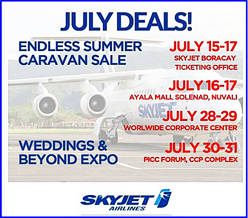 Skyjet Endless Summer July Promo Deals 2016