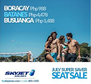 Skyjet BATANES, Boracay, Coron July 2016 Super Saver Seat Sale