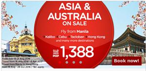 Air Asia August 2016-April 2017 Promo Fare